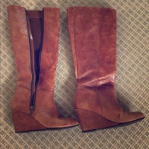 Knee high brown boots size 7